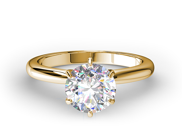 2890ccf1a7e36 Six-Prong Yellow Gold Engagement Ring Setting - Solitaire Engagement ...