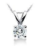 Round Diamond Pendant (G/H Color, VS Clarity) set in Platinum