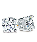 Diamond Earrings, H Color, VS2 Clarity in Platinum Prongs