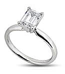 Diamond Engagement Rings in White Gold (G/H Color, VS Clarity)