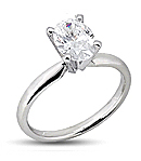 Four-Prong Diamond Engagement Rings in Platinum (G/H Color, VS Clarity)