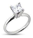 Princess-Cut Engagement Ring in Platinum (G/H Color, VS Clarity)