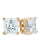 Princess-Cut Diamond Stud Earrings, H/I Color, SI Clarity (Yellow Gold)