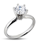 Round Six-Prong Engagement Ring in Platinum (G/H Color, VS Clarity)