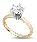 18K Gold Round Engagement Ring (H/I Color, SI1 Clarity)